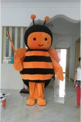 Orange Black Bee Christmas Halloween