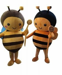 Sinoocean Bee honeybee Adult Mascot Costume Fancy Dress Cosplay Outfit