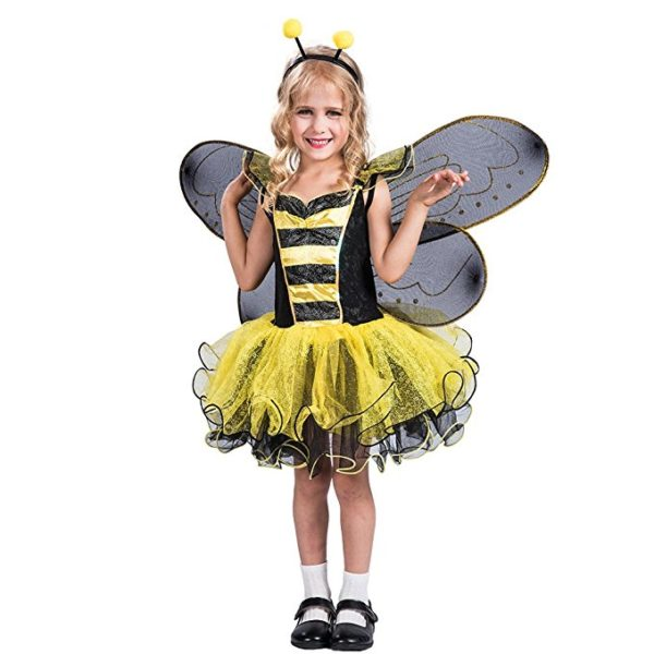 FantastCostumes Girls Bumble Bee Costume With Wings Set