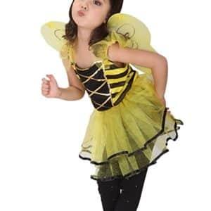 Girls Bumblebee Halloween Costumes Child Honeybee Role Play Cosplay Dress Up
