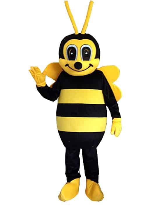 Bee Mascot Costume Bee Costume Adult Halloween Fancy Dress