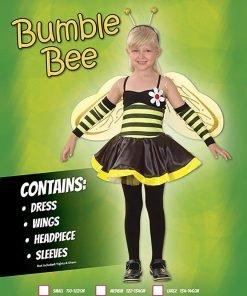 Medium Black & Yellow Girls Bumble Bee Costume