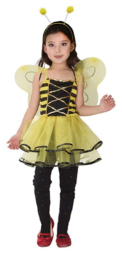 Girls Bumblebee Halloween Costumes Child Honeybee Role Play Cosplay Dress Up