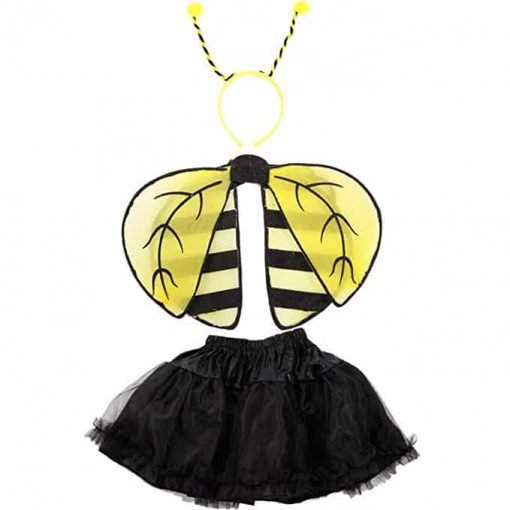 Girls Kids Ladybug Ladybird Bumble Bee Insect Bug Fancy Dress Costume Wings
