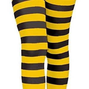Forum Novelties Bumble Bee Striped Costume Tights, Child Large