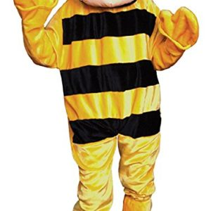 UHC Bumble Bee Mascot Funny Comical Theme Party Jumpsuit Fancy Costume