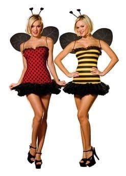 Dreamgirl Women's Reversible Bumble Bee/Lady Bug Costume