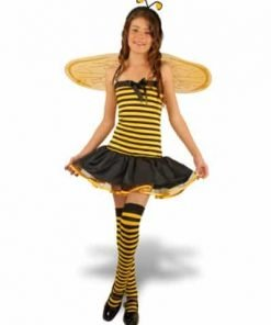 Childs Short Bee Costume (Size:Large 10-12)
