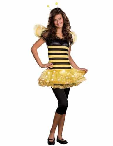 Dreamgirl Juniors Busy Lil Bee 3-Piece Stretch Knit Striped Dress
