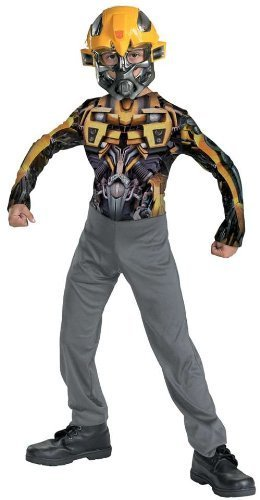 Disguise Boys 'RotF Bumblebee' Child Costume, Yellow/Black/Grey, S by Hasbro