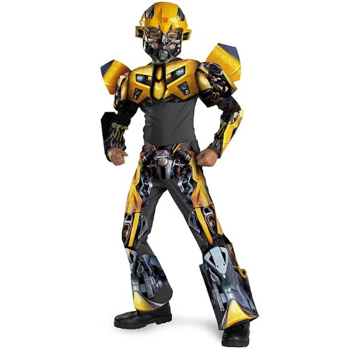 Bumblebee Movie 3-d Deluxe Child Costume - Medium (7-8)