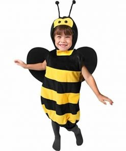 Girl's Plush Bee Halloween Costume (Small 4-6)