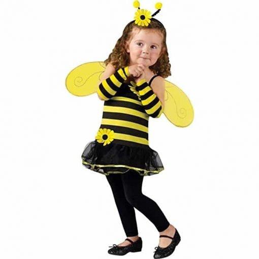Fun World Toddler Girls' Honey Bee Costume, Multi, Small