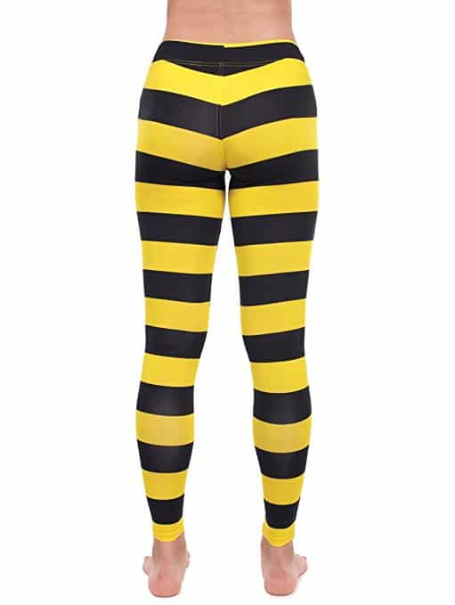 Tipsy Elves Bumble Bee Costume Leggings - Bee Tights For Women