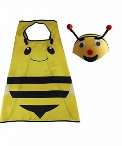 DREAMOWL Kids 70cm Ladybug Animal Bee Hat Cape Set, Halloween Costume For Child