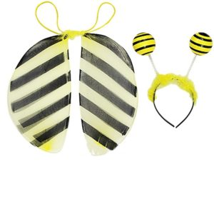 Kirei Sui Kids Ladybug Bee Costume Headband Wings Tutu Set