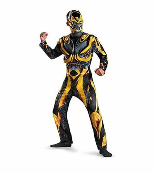 Deluxe Transformers Bumblebee Costume & Mask Adult Men Size XL 40-42 by Disguise