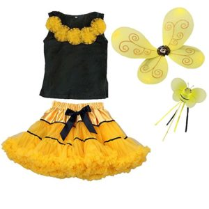The Butterfly Grove Bumblebee Fairy Costume Wings Wand Tutu Top Halloween Dress Up