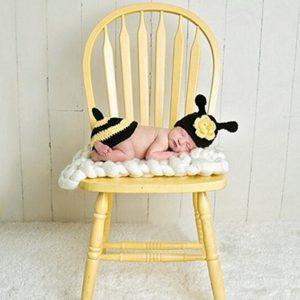 Newborn Photography Prop,amazingdeal Baby Girls Boys Bee Crochet Knit Costume