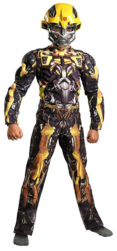 Boys - Bumblebee Classic Muscle Child Costume 10-12 Halloween Costume