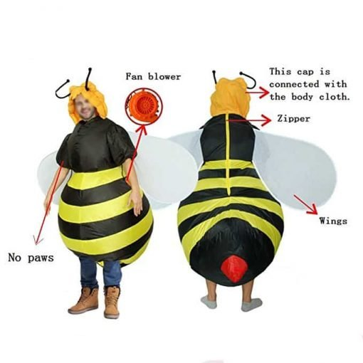 Halloween Costume Inflatable Bumble Bee Costumes For Adult Yellow Black