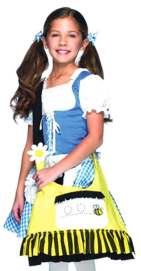 Girls - Kids-Bag Bee Halloween Costume - None