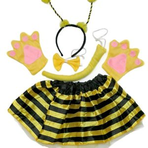 Petitebella Headband Bowtie Tail Gloves Tutu Unisex Children 5pc Girl Costume