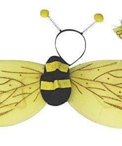 Leaf Sison Halloween Bat Bee Fairy Wings Unisex Children Costume Party Dress
