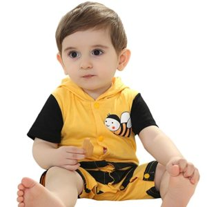 JIAJIA Baby Toddler Short Sleeve Hooded Outfits Onesies Animal Costume