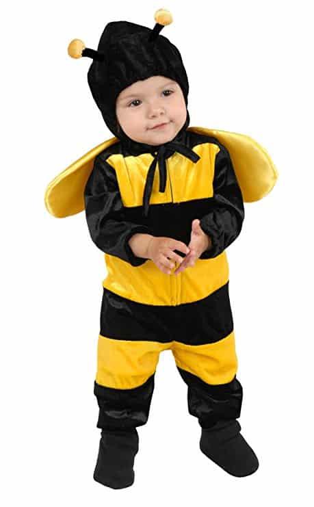 Charades Toddler Girl's Little Bee Costume Baby Costume, as Shown, Toddler