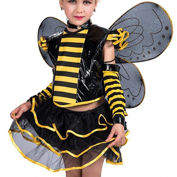 EraSpooky Little Girls Halloween Punky Bee Costume Set