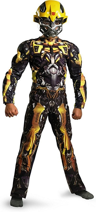 UHC Boy's Bumblebee Classic Muscle Kids Child Fancy Dress Party Halloween Costume