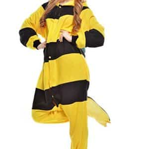 Adult Bee Onesie Pajamas Cosplay Costumes