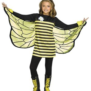 UHC Girl's Bee My Honey Outfit Funny Theme Fancy Dress Child Halloween Costume