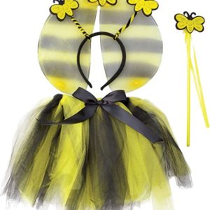 Bristol Novelties Big Boys' Animal Bumble Bee Tutu Wings Headband & Wand Set