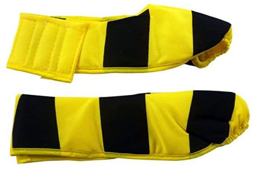 Humatt Busy Bee Fancy Dress Childs Shoe Covers Size Medium 21cm Front To Back (hw139)