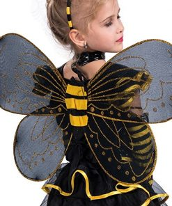 EraSpooky Little Girls Halloween Punky Bee Costume Set