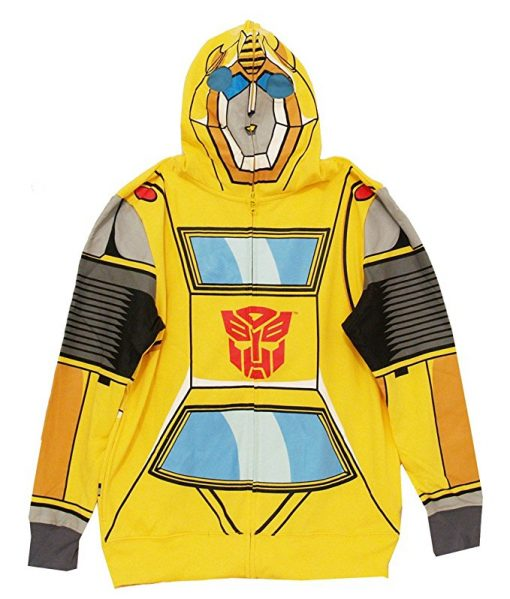Transformers Bumblebee Costume Hoodie For Adult