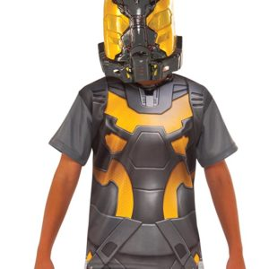 Ant-Man Yellow Jacket Costume Shirt and Mask, Child's Large