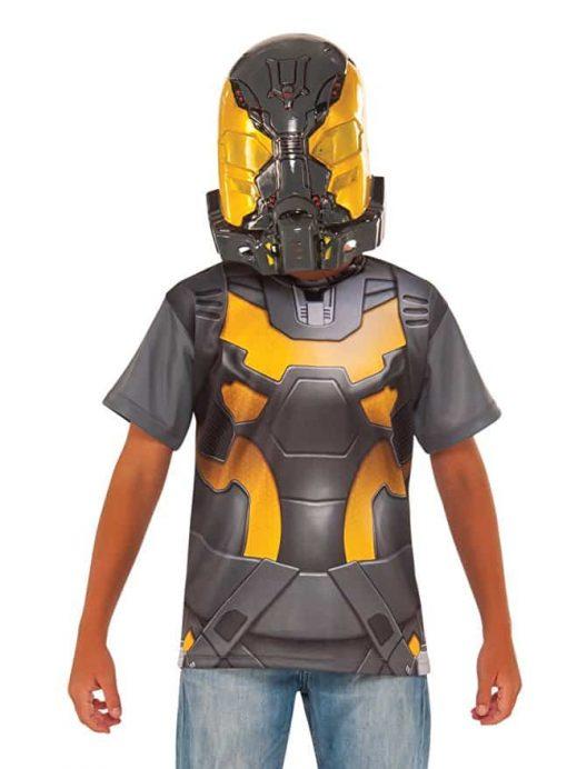 Ant-Man Yellow Jacket Costume Shirt and Mask, Child's Large