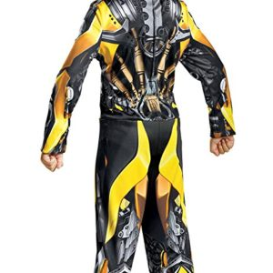 Disguise Bumblebee Movie Classic Costume, Yellow, Small (4-6)