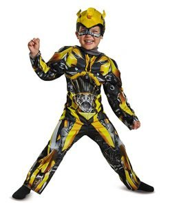 Disguise Bumblebee Movie Toddler Muscle Costume, Yellow, Small (2T)