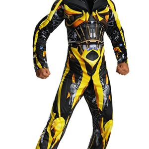Disguise Hasbro Transformers Age of Extinction Movie Bumblebee Classic Muscle Boys Costume, Small/4-6